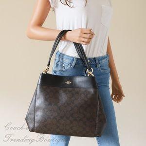 a42276efb925 Coach Bags - Coach F27972 Lexy Shoulder Bag In Brown Black